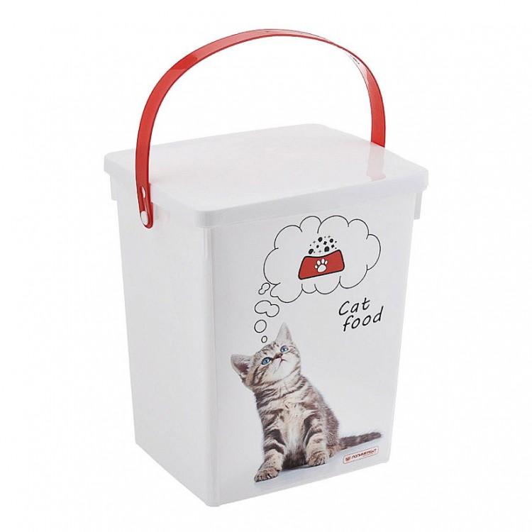 POLIMERBYT Контейнер для корма животных Кошки 5л купить по выгодной цене в интернет-магазине Четыре Лапы