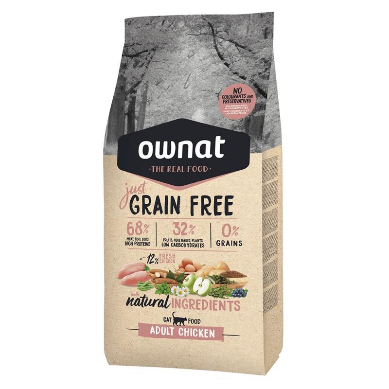 GRAIN FREE JUST сухой корм для кошек, с курицей, 1 кг